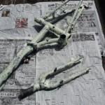 【2004 DAHON BOARDWALK】フレーム塗装剥離しました!