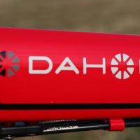 【2015 DAHON SPEED FALCO】DAHONステッカー(ホワイト)貼り付け【ひと目でわかるように】