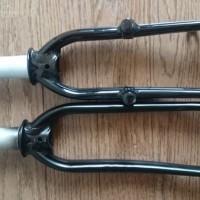 【2013 DAHON Archer】16インチアルミ製フロントフォークを交換【コラム長111mm→123mm】